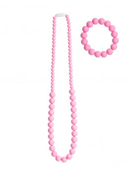 Nursing Necklace and bracelet (pink)