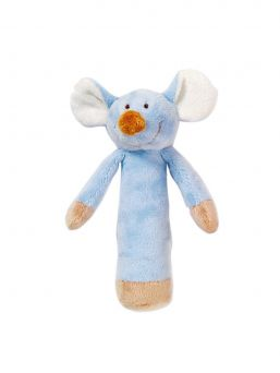 Teddykompaniet rattle for baby (blue mouse)