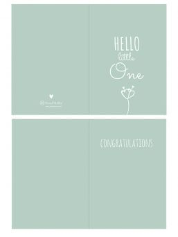 Greeting card Hello Little One