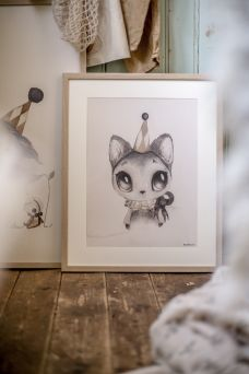 Mrs Mighetto Dear Meow  poster for kidsroom.