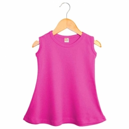Sleeveless Baby Dress - FUCHSIA