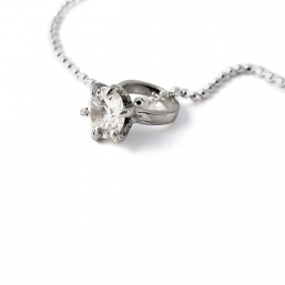 Little girl's diamond ring necklace - Tales From The Earth