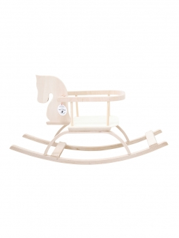 Petit Puk wooden rocking horse (natural)