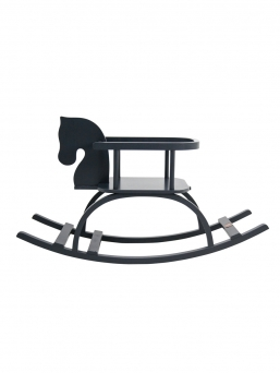 Petit Puk wooden rocking horse (black)