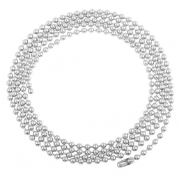 Silver plated necklace Big Beads 100cm