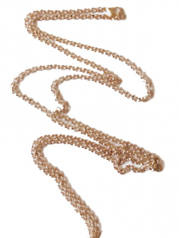 Rosegold plated necklace 100cm