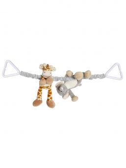 Teddykompaniet DIINGLISAR Pram Toy is designed to go across the hood of the pram to hang in front of baby.