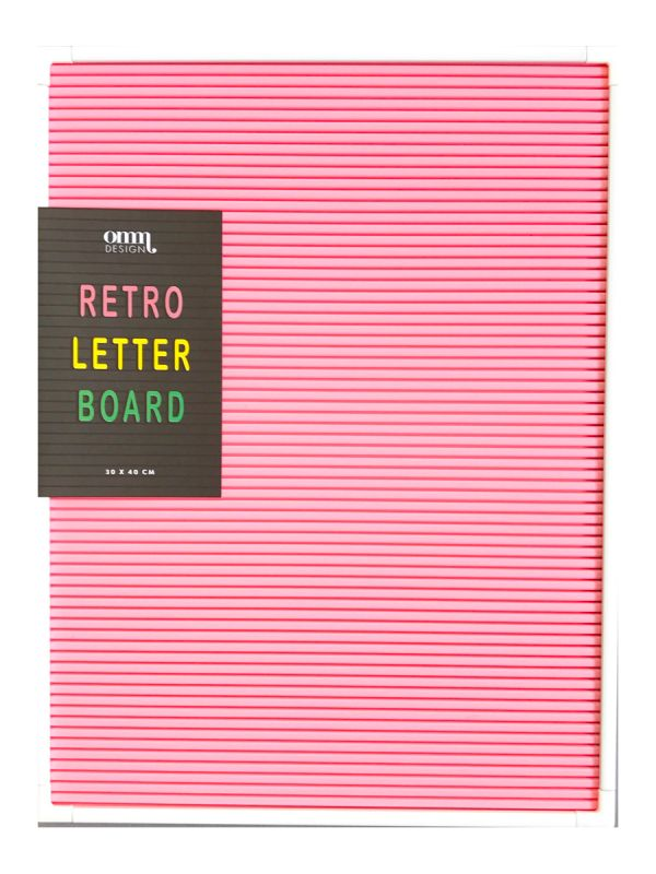 Write a message, your favourite quote or the dinner menu on this classical, retro letter board.