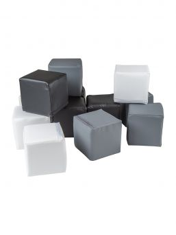 Soft play blocks for the children's room - build an obstacle course, a fortress or even a tall tower safely from blocks