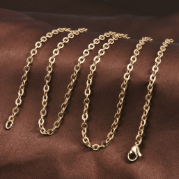 Gold plated necklace Rings 100cm