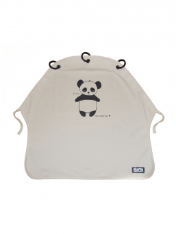 Kurtis Baby Peace pram curtain - panda (grey)