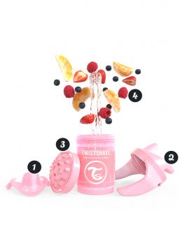 Twistshake Mini Cup 230ml 4+m Pearl Pink Non Spill Cups