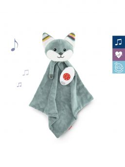 Baby comforter with removable sound module.