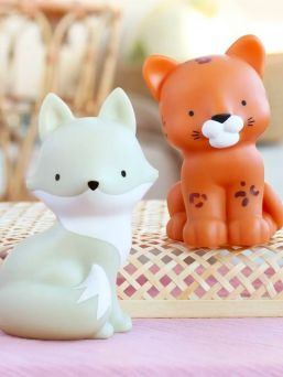 A LITTLE LOVELY COMPANY  This little leopard is oh so lovely and is right at home on your little one's nightstand. The light glows softly and helps your little one fall asleep.