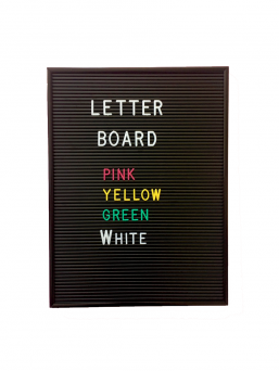 Changeable Letter Board (black)