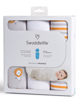 SwaddleMe Wrap 0-3mth 3-pack (lions and stripes)