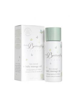 Little Butterfly London 100 % organic baby massage oil has been lovingly created for delicate skin