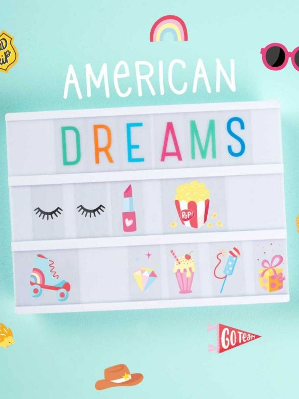 Pack of 57 american symbols for Lightbox.