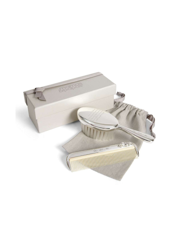 Mamas&Papas Once Upon a Time Silver Brush & Comb Set