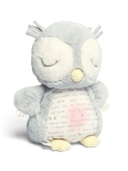 A cute soft Mamas & Papas babyowl who soothes baby with music and light. Pressing lightly on the owl's foot turns on the owl's dim night light. Pressing the wings, the owl begins to play a soothing melody.