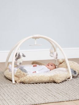 Adorable Mamas & Papas Ellery Elephant Playmat with hidden features for the child. The playmat is made for a soft and safe environment for the baby.