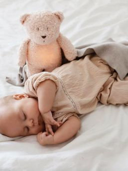 Moonie The Humming Friend - soothe a child for sleep, rose