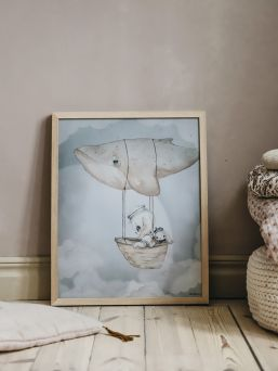 Mrs Mighetto Flying Whale for kidsroom.