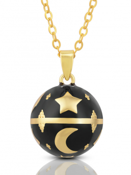 BOLA - gold stars and moon (black)