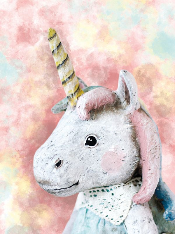 Gorgeous Nenni & Friends Unicorn card printed on high quality uncoated paper. A wonderful greeting card for a gift box or framed for your own child.