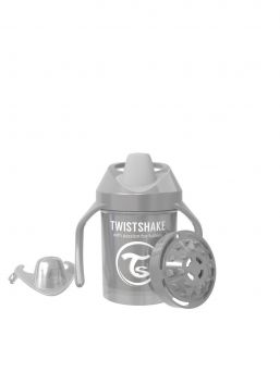 Twistshake Mini Cup 230ml 4+m Pearl Grey Non Spill Cups