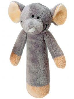 Teddykompaniet rattle for baby (gray elephant)