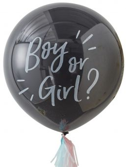 Gender Reveal Boy Or Girl? Balloon Kit. Giant boy or girl? gender reveal balloon kit, perfect way to reveal the sex of the little baby.