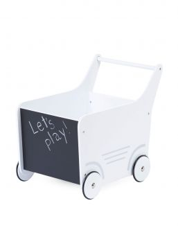 Childhome wooden baby walker. This beautiful wooden stroller is the perfect place to store your little one's favourite toys.