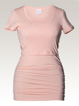 BOOB Maternity and Nursing Ruched Top  (pale blush)