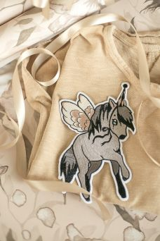 Beautiful Mrs Mighetto patch for kids clothes.