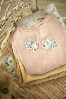Beautiful Mrs Mighetto patches for kids clothes.