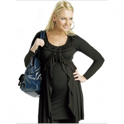 Maternity Pleat Top (black)
