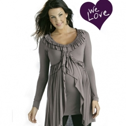 Maternity Pleat Top (mauve)