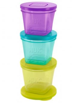 NUK Fresh Foods puree jars are ideal with homemade purees. They are easy to fill and store in the fridge or freezer.