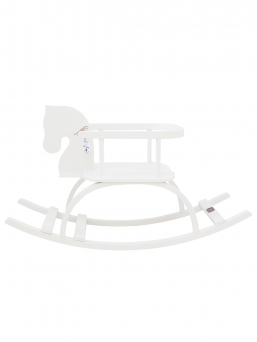 Petit Puk wooden rocking horse (white)