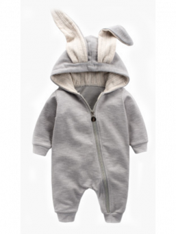 Lightweight and delightful romper suit for the baby. A zipper that extends up to the second leg to make it easier for the baby to wear. Dress with elastic and comfortable Rib knitwear.