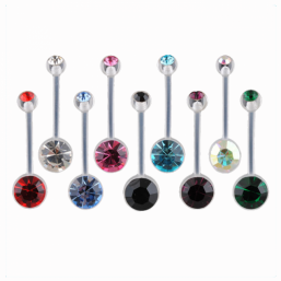 Navel jewel - monochrome short (22mm)
