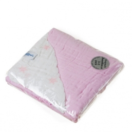 SNUTTEN Burp cloth 3+3pcs (rosa-rosa stars)