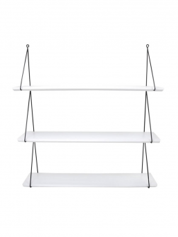Beautiful Babou 3 shelve that is really easy to install. A spectacular detail of home furnishings in the office or in the kidsroom.  Easy to install: Attach the screws and hang the shelves to the clips.  A safe choice for the kid's room as wooden shelves are painted with water-borne paint.