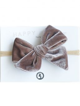 Beautiful and adorable HAPPYPARROT Velvet collection bow headwrap for baby. All bow headwraps are made by hand. The fabrics are soft and the headband does not tighten or squeeze the baby's head.