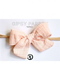 Bow headband Muslin collection (light apricot) | HAPPYPARROT