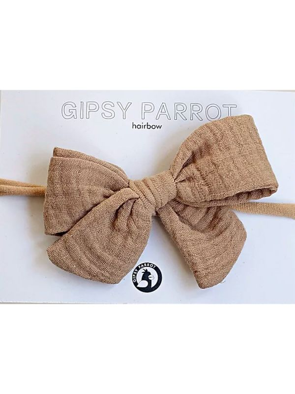 Bow headband Muslin collection (beige) | GIPSYPARROT