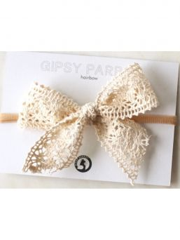 Bow headband Muslin collection (rustic lace) | HAPPYPARROT