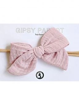 Bow headband Muslin collection (old rose) | HAPPYPARROT