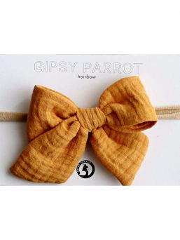 Bow headband Muslin collection (curry yellow) | GIPSYPARROT